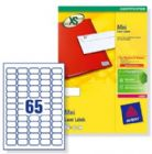 Avery Mini Labels Laser 65 per Sheet 38.1x21.2mm White Ref L7651-250 [16250 Labels]